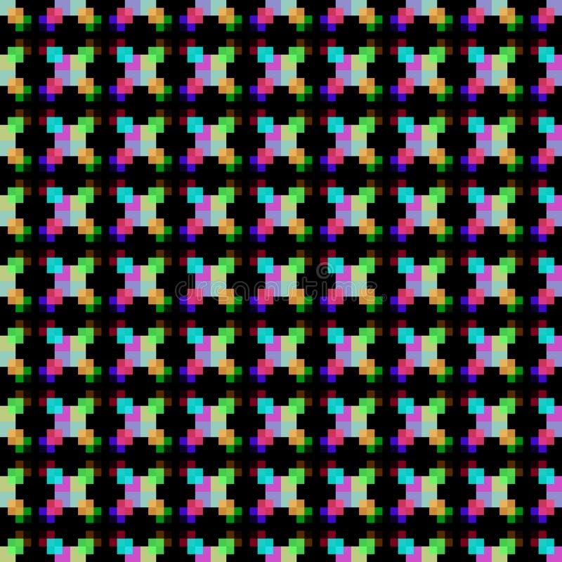 au-dessus de la forme de boîte de modèle de bourdonnement avec le colorfull illustration libre de droits