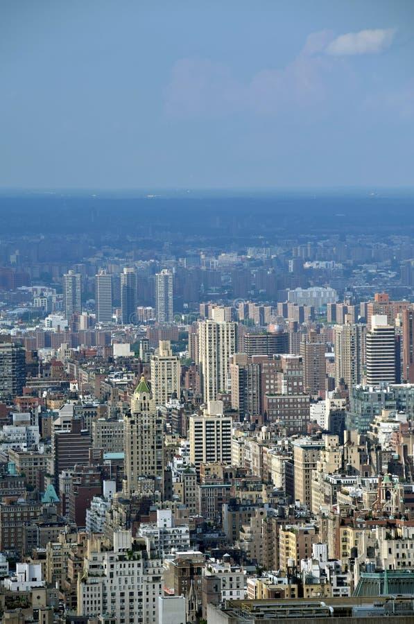 au-dessus de la ville New York images stock