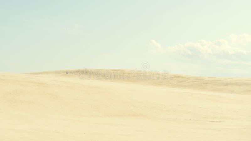 Au-dessus des dunes image stock