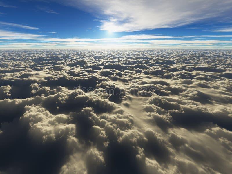 Au-dessus des nuages - cloudscape illustration stock