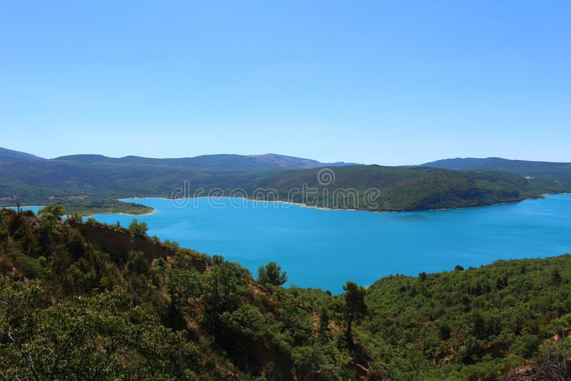 Au-dessus du lac de Sainte-Croix photographie stock libre de droits