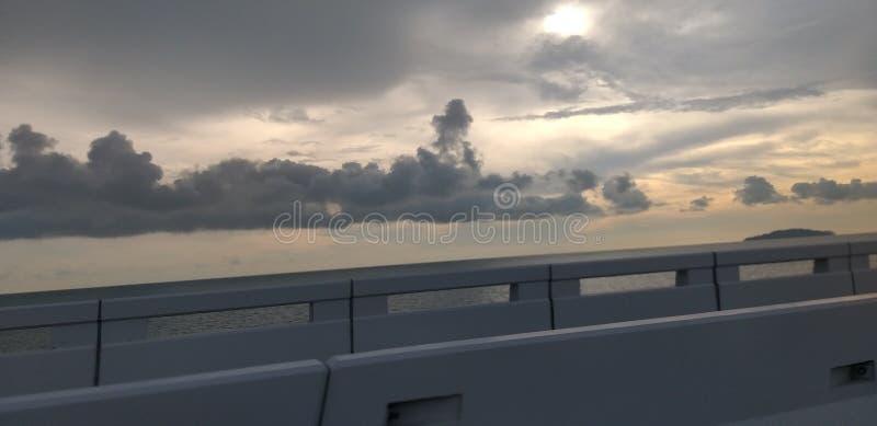 Au-dessus du pont Malaisie de Penang photographie stock libre de droits