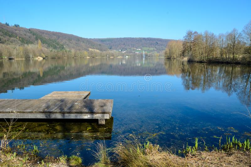 Au lac Echternach au Luxembourg image libre de droits