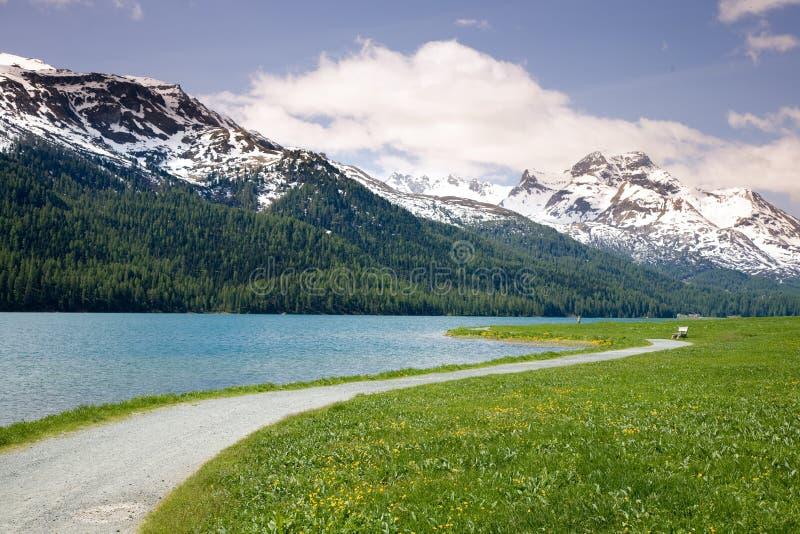 Au lac Silvaplana photos libres de droits