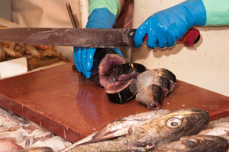Au marché de poissons photographie stock