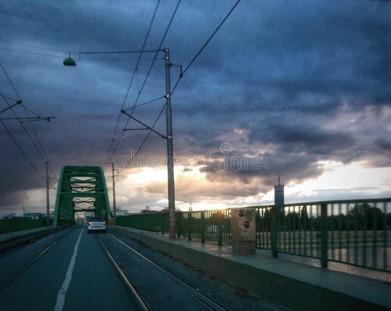 Au pont photo libre de droits