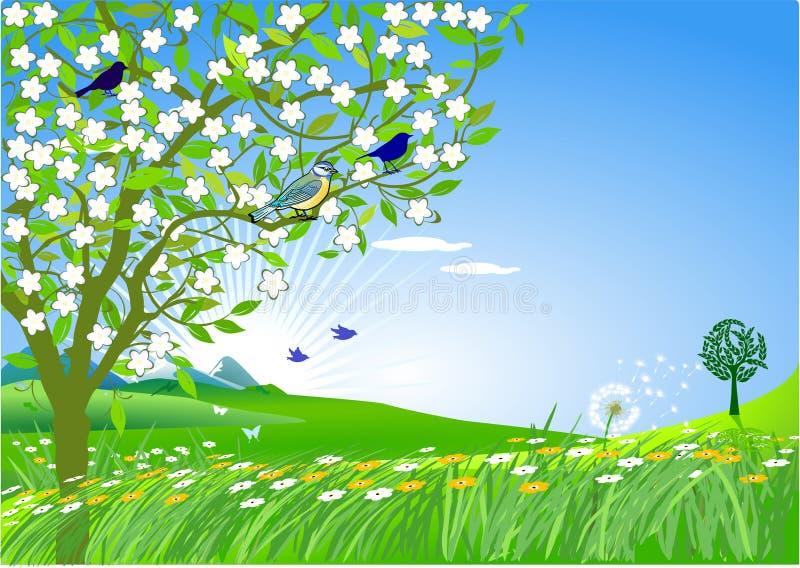 Au printemps illustration de vecteur