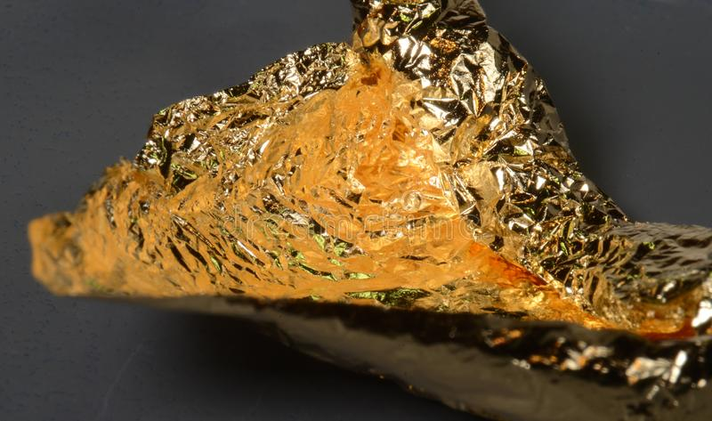Au puro chimico dell'oro immagine stock