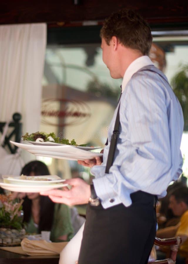 Au restaurant images stock