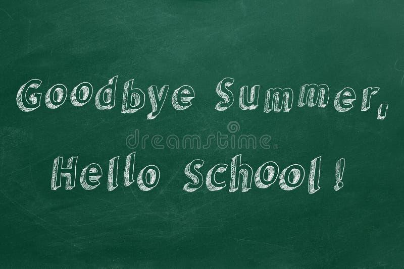 Au revoir été, bonjour école image stock