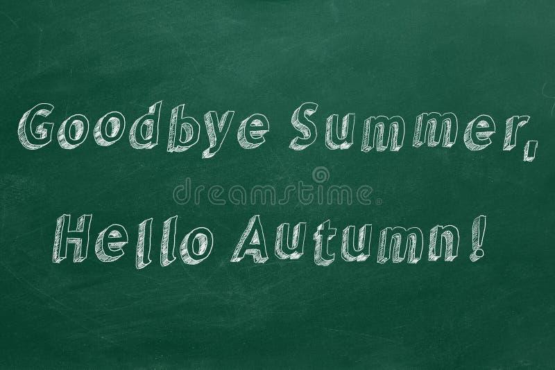 Au revoir été, bonjour automne photo stock