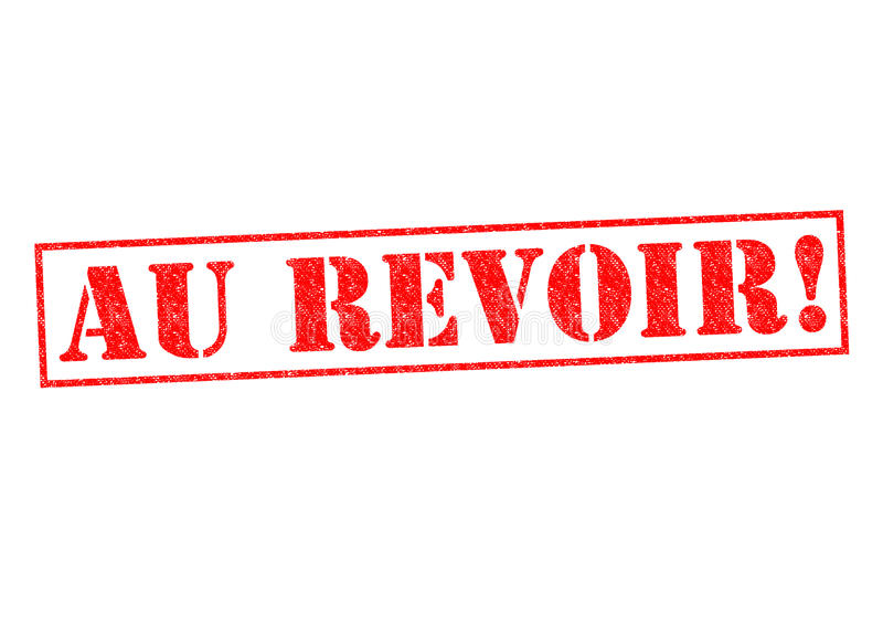 AU REVOIR! ilustração stock