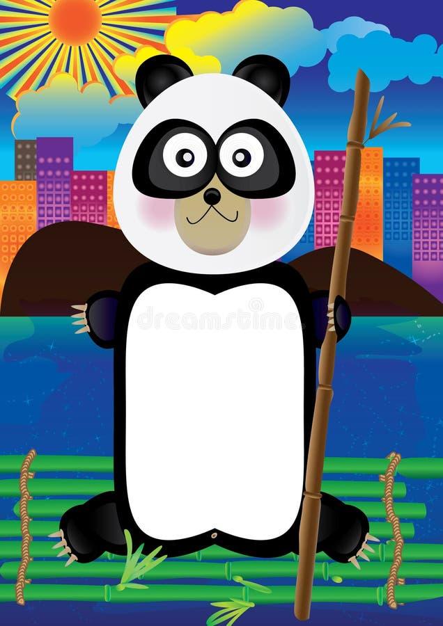 Au revoir City_eps de panda illustration libre de droits