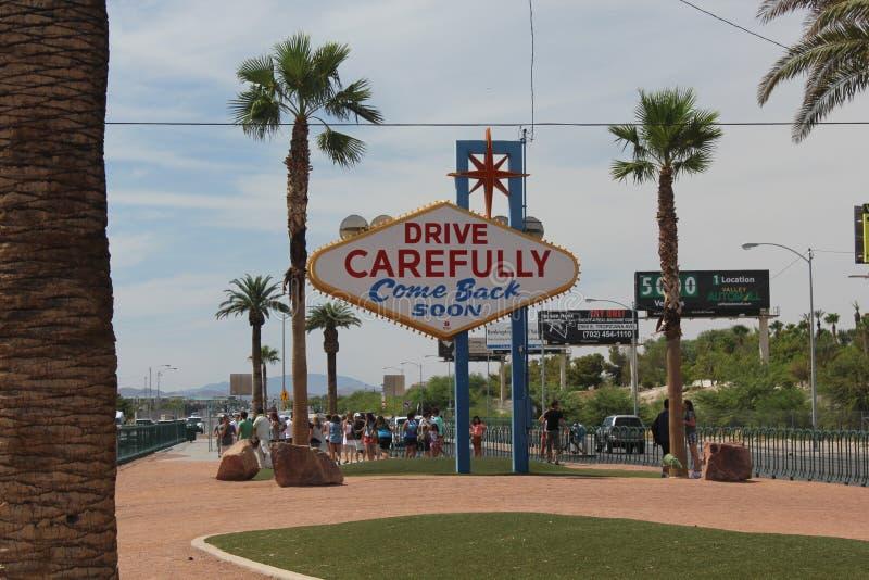 Au revoir Las Vegas photo stock