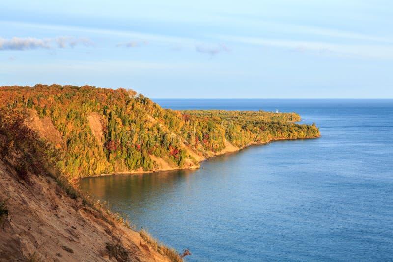 Au Sable Point Sunrise in Autumn royalty free stock photos