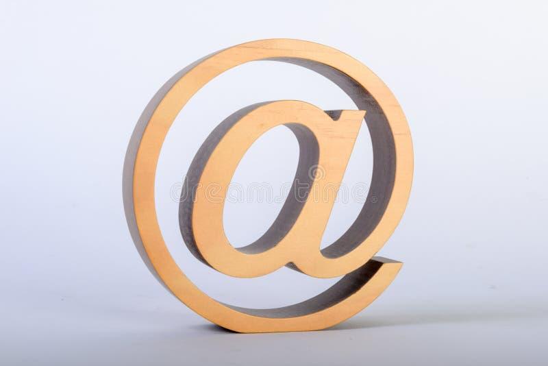 Au signe comme sculpture photo libre de droits