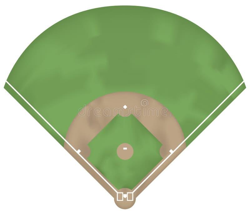 Au sol de base-ball illustration libre de droits