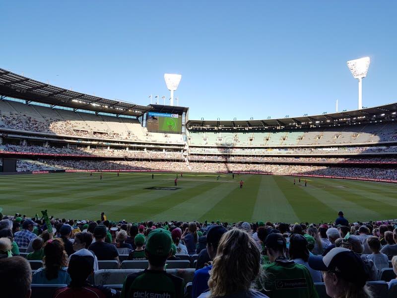 Au sol de cricket de Melbourne photo stock