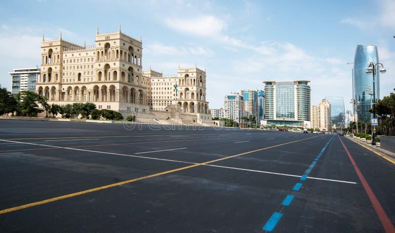 Au sol de défilé à Bakou image libre de droits