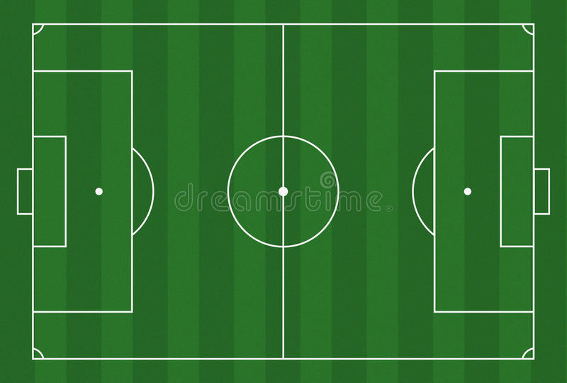 Au sol de football illustration libre de droits
