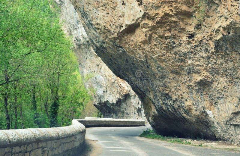 Au sud de la France, Lozère, gorge du le Tarn Route sauvage photo libre de droits
