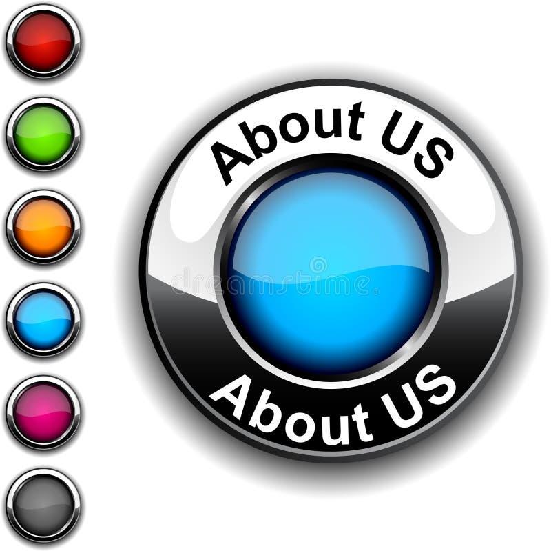 Au sujet de nous bouton. illustration libre de droits
