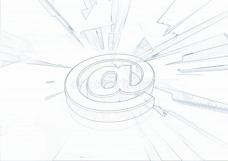 Au symbole d'email illustration libre de droits