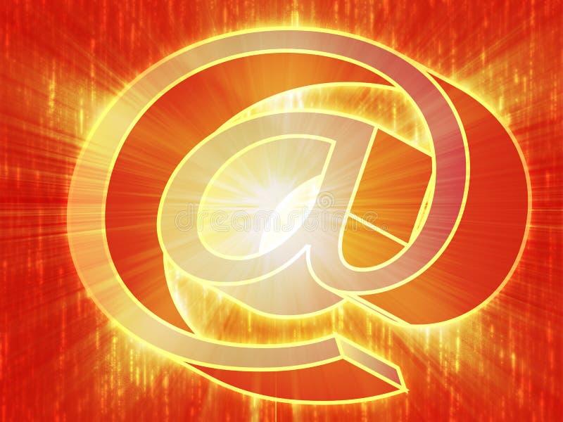 Au symbole d'Internet illustration de vecteur