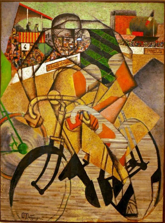 Au Vélodrome - Jean Metzinger immagine stock