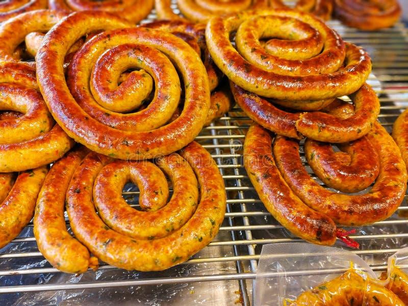 Aua Notrhern Sai ταϊλανδικό πικάντικο λουκάνικο στοκ εικόνες με δικαίωμα ελεύθερης χρήσης