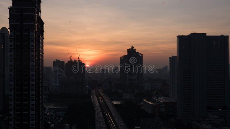 Aube à Bangkok, Thaïlande photo libre de droits