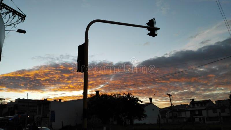 Aube à Bogota images libres de droits