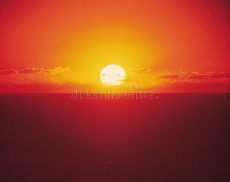 Aube avec Sun photo stock