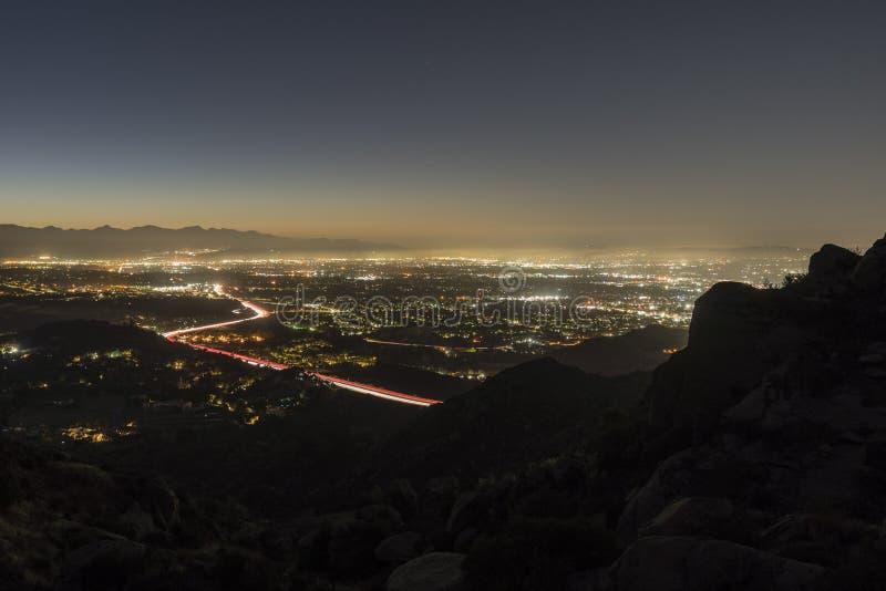 Aube de crête de montagne de Los Angeles images stock
