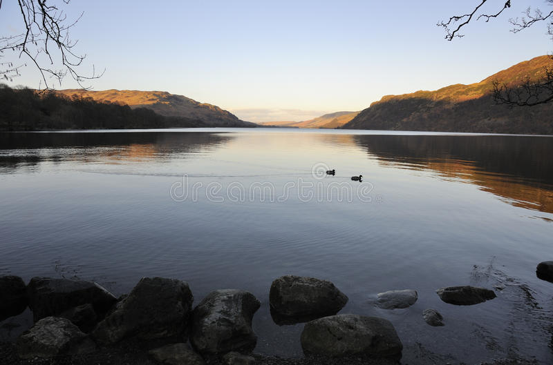 Aube de district de lac, Ullswater photos libres de droits
