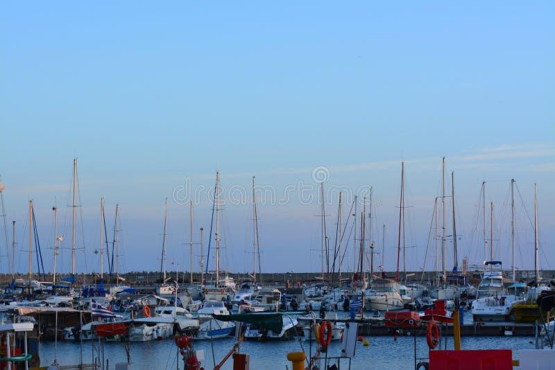 Aube de matin au port photos stock