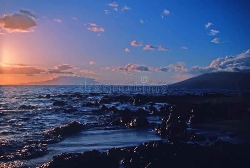 Aube de Maui photographie stock libre de droits