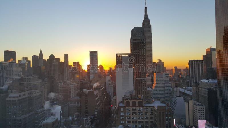 Aube du Newyorkais image libre de droits