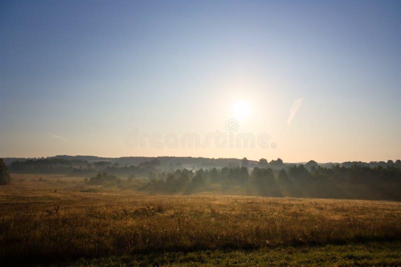 Aube, horizontal rural photographie stock