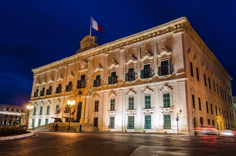 Auberge de Castille en La Valeta, Malta imagen de archivo libre de regalías