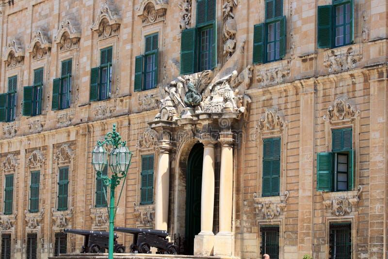 Auberge de Castille, Valletta lizenzfreie stockfotos