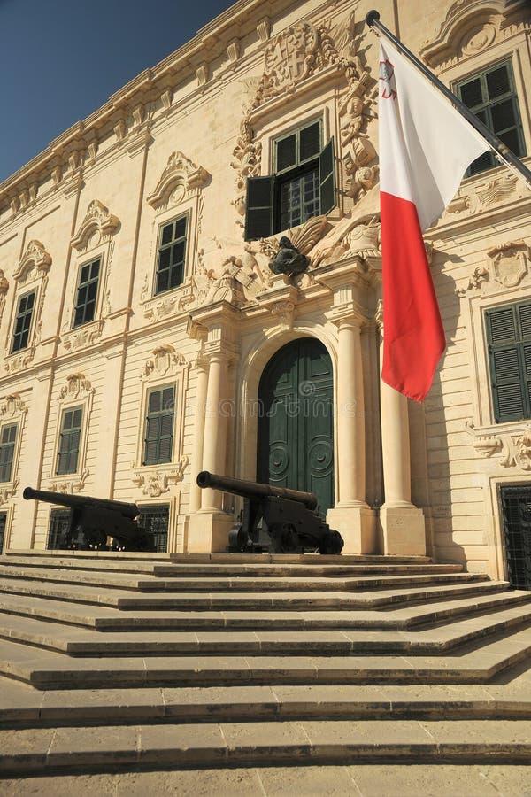Auberge de Castille Valletta, Malta fotografía de archivo libre de regalías