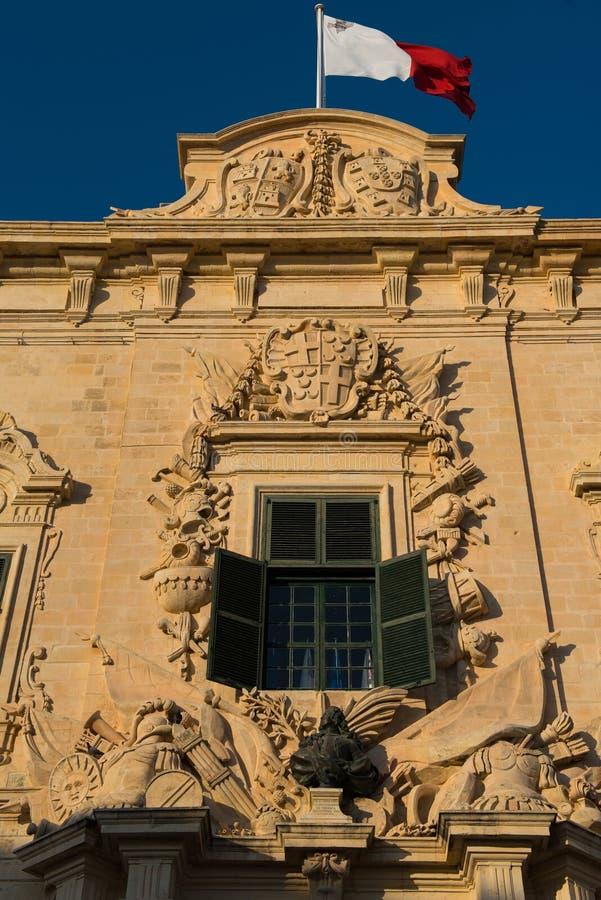 Auberge de Castille Valletta, Malta stockbilder
