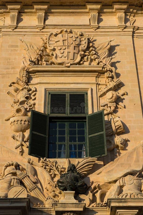 Auberge de Castille Valletta, Malta stockbild