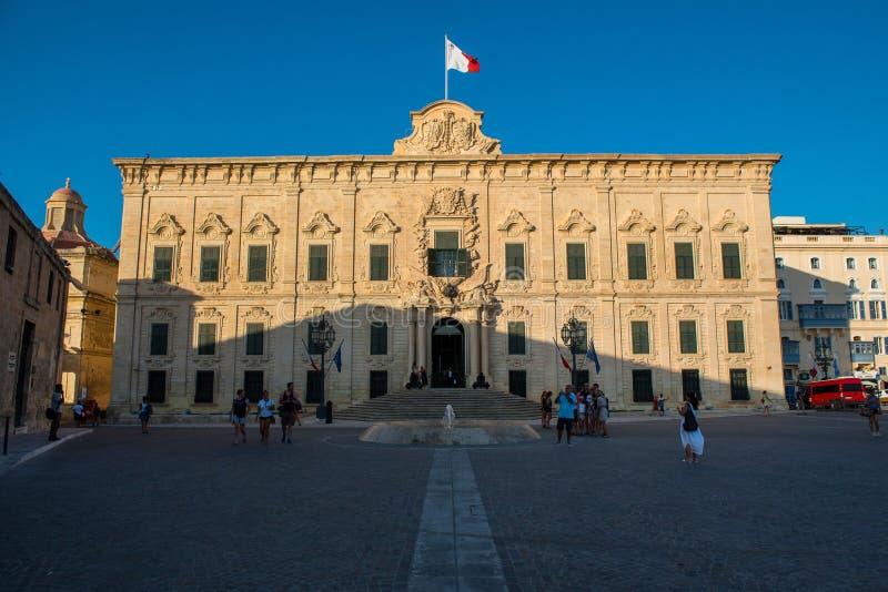 Auberge de Castille Valletta, Malta lizenzfreies stockfoto