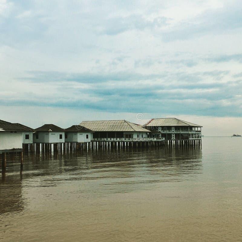 Auberge de station de vacances de Tanjung Piai photo stock