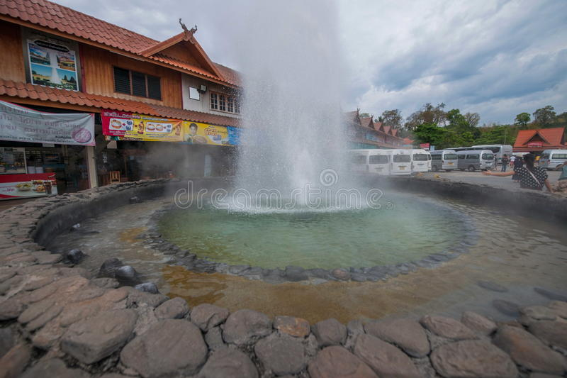 Auberge et station thermale Chiang Rai en Thaïlande du nord photos stock