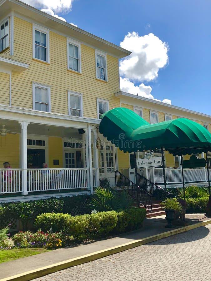 Auberge historique de Lakeside, bâti Dora, la Floride photographie stock