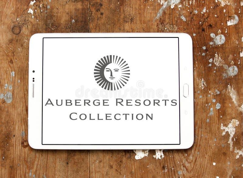 Auberge recourt logo photographie stock libre de droits