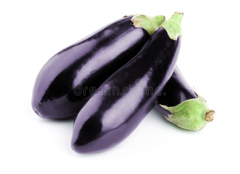 Aubergine. Isolated on a white background stock photography